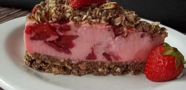 Receita de Torta de Bis e Morango