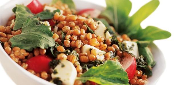 Receita de Salada de Grãos