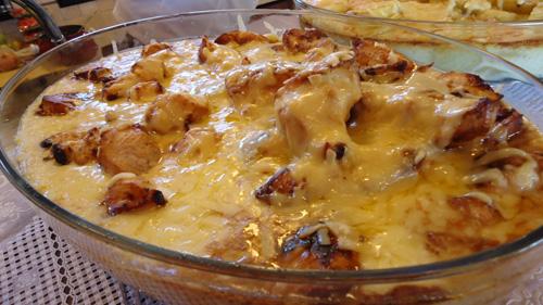 Frango com batatas ao Leite
