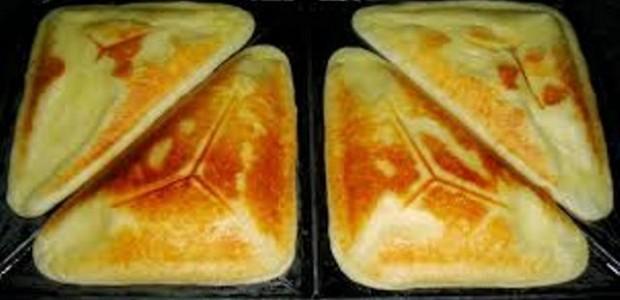 Pão de queijo na torradeira