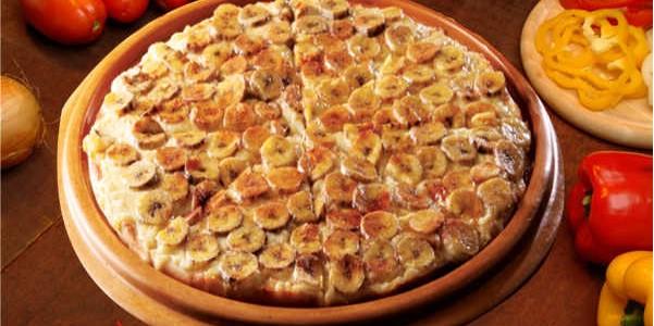 Pizza Doce de Banana Fácil