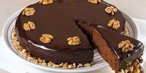 Bolo de Nozes e Chocolate