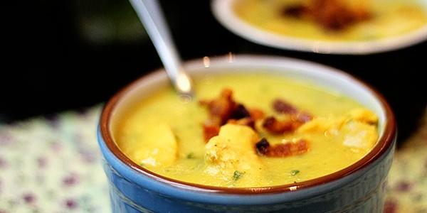 Sopa de Batata com Calabresa