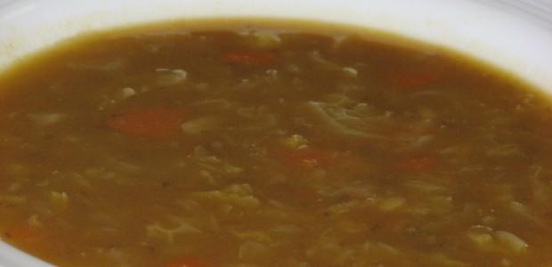 Sopa de Lentilha e Alho Francês