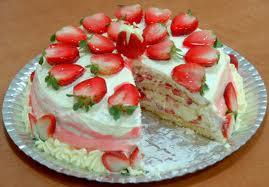 Torta Doce de Morango