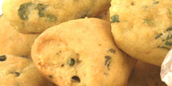 Biscoitos de Cebolinha Verde