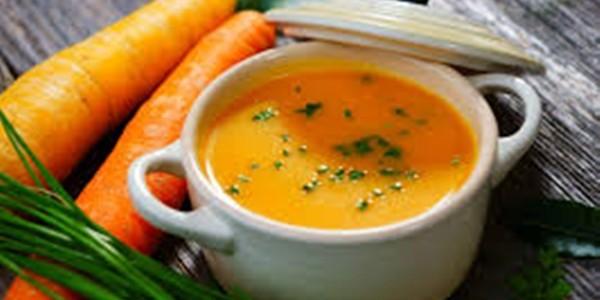 Sopa de Batata Doce e Cenoura