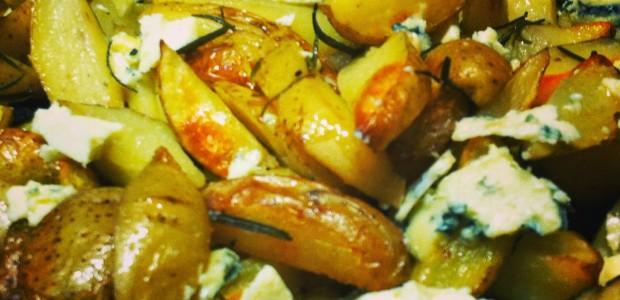 Receita Batatas Rústicas com Gorgonzola