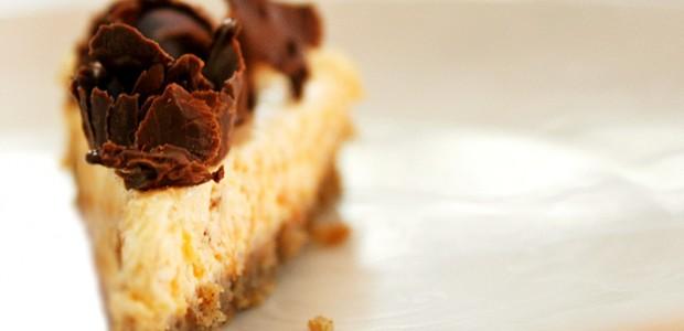 Receita Cheesecake de Abóbora e Chocolate
