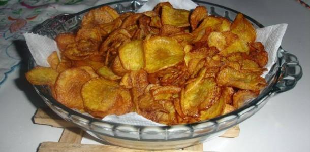 Receita Chips de Mandioquinha