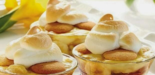 Receita Pavê Caramelado de Banana