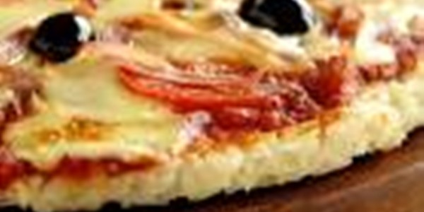 Receita Pizza de Arroz Fácil