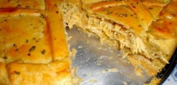 Receita Torta de Frango Com Creme de Leite