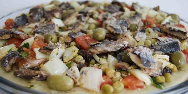 Receita Pizza de Sardinha Picante