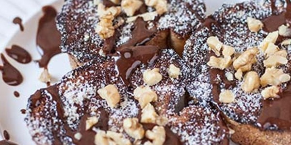 Receita Rabanada de Chocolate e Nozes