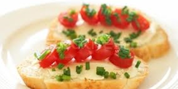 Receita Bruschetta de Tomate com Cream Cheese