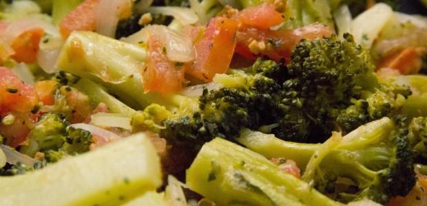 Receita Salada de Brócolis e Tomate