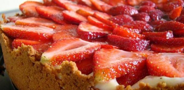 Receita Torta de Morango