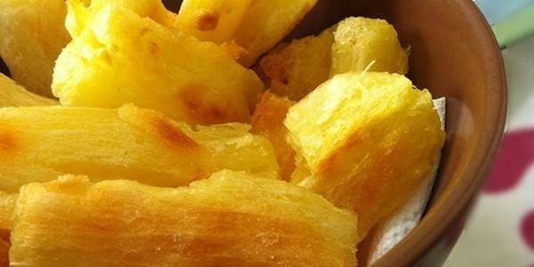 Receita Mandioca Frita no Forno