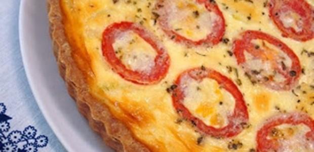 Receita Quiche de Ricota com Tomate