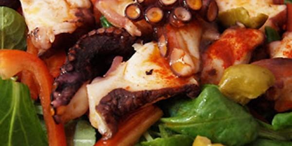 Receita Salada com Polvo