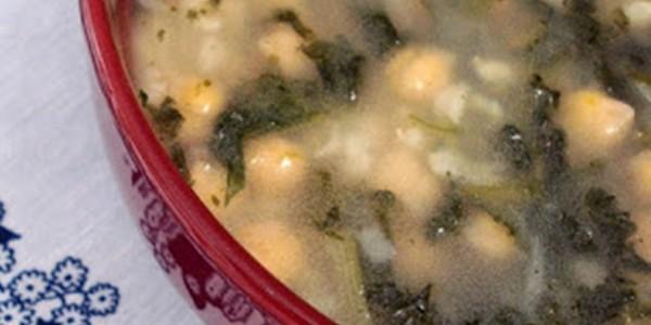 Receita Sopa de Espinafre com Grão de Bico