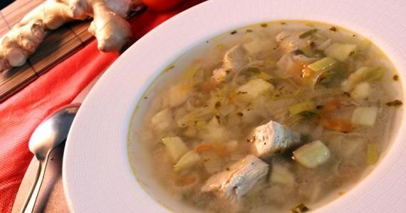 Sopa Frango com Batata