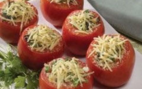 Tomate Recheado com Estrogonofe