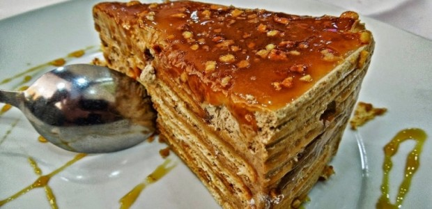 Receita Bolo de Bolacha com Caramelo
