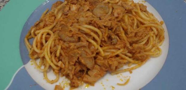 Receita Espaguete com Atum