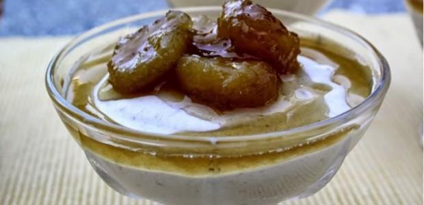 Receita Mousse de Banana e Caramelo
