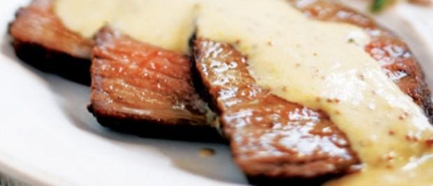 Carne Grelhada com Molho Mostarda
