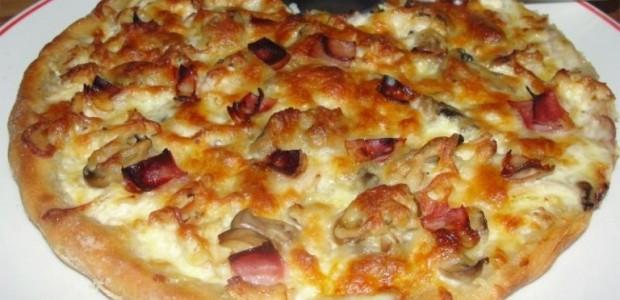 Receita Pizza Carbonara com Frango