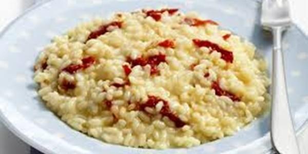 Receita Risoto de Palmito e Tomate Seco