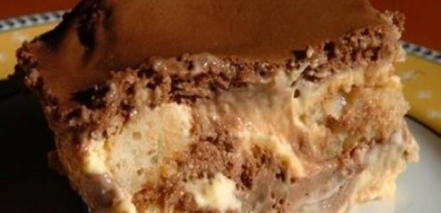 Torta de Bolacha com Mousse de Maracujá