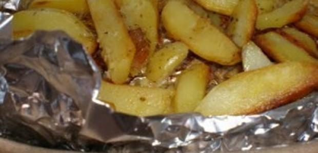 Batatas no Papelote