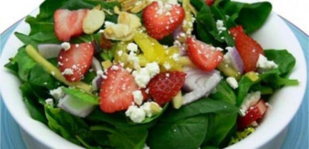 Salada com Morango