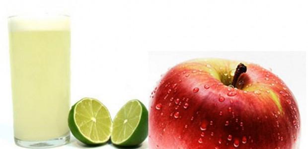 Suco de Maçã com Limão