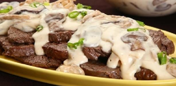 Carne ao Molho de Cogumelos