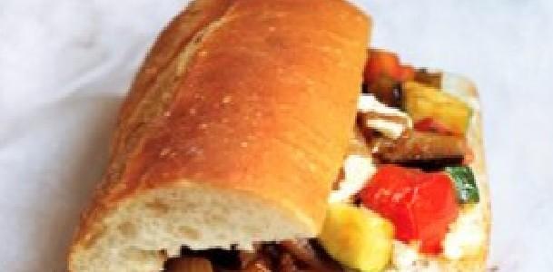 Sanduíche de Ratatouille