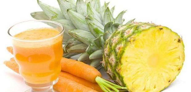 Suco de Cenoura com Abacaxi
