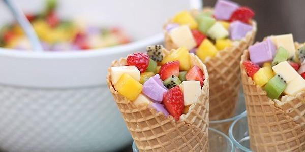Casquinha com Frutas