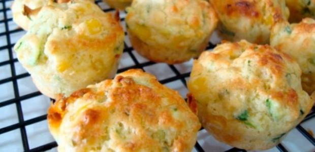 Muffins de Abobrinha com Milho