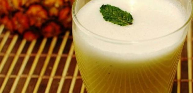 Suco de Abacaxi com Chia