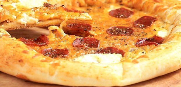 Pizza de Calabresa com Borda de Catupiry