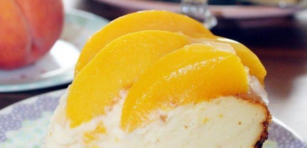Cheesecake de Iogurte com Pêssego