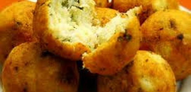 Bolinho frito de Bacalhau