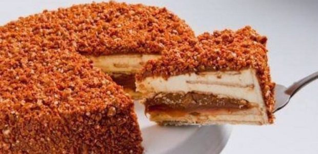 Torta de Doce de Leite Crocante