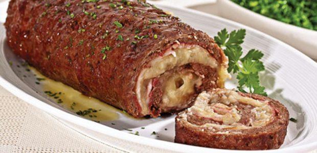 Rocambole de Carne ao Molho Madeira