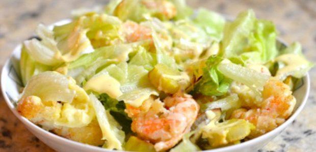 Salada de Camarão ao Molho